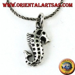 Silver pendant Hippocampus Seahorse
