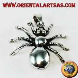 Silver pendant, tarantula spider (large)