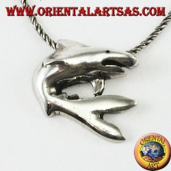 Pendant in silver the shark