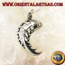 Silver herringbone pendant