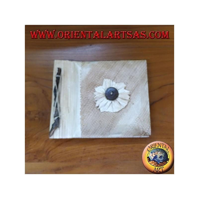 Quaderno in carta di riso con copertina in corteccia quadrato ( medio )