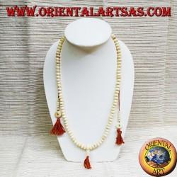Buddhist rosary 108 mala Grains in yak bone