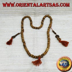 Mala rosario buddista per Mediazione 108 Grani in osso di yak lucidato .