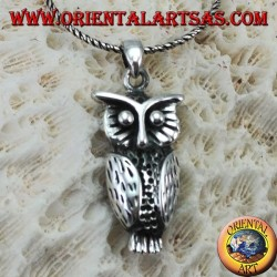 Pendant in the form of an owl in silver