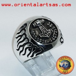 Silver ring Thor hammer