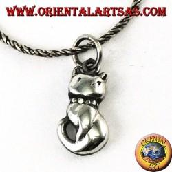Ciondolo in argento il gattino piccolo