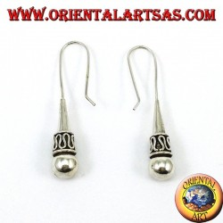 Silver earrings with a Balinese style sphere