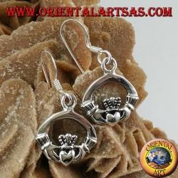 Orecchino d'argento celtico di Claddagh