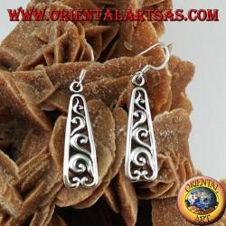 Earrings in sterling silver pierced baroque style