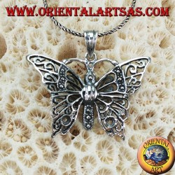 Silver pendant in the form of a large butterfly