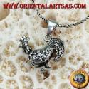 Ciondolo in argento Gallo tridimensionale