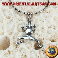 Frog silver pendant