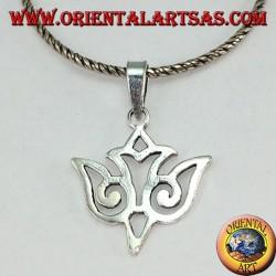 silver pendant dove Maori pierced