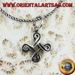 Pendant in silver Saint John's knot