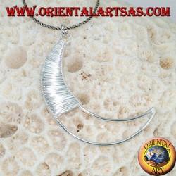 Ciondolo in argento luna fatta a mano