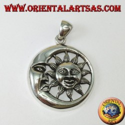 Silver pendant sun in the moon