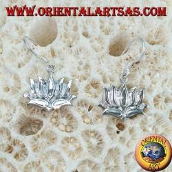 Orecchini in argento 925 il  fiore di loto