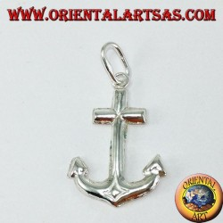 Silver pendant, simple anchor (medium)