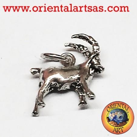 Silver pendant, Capricorn