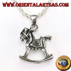 Pendant in silver rocking horse