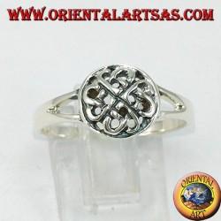 Серебряное кольцо Кельтский узел любовника