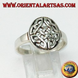 Silver ring Celtic knot of duleek