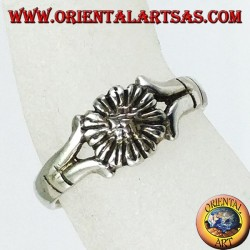 Silver rings with daisy for feet or phalanxes