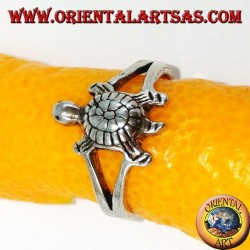Silver rings with turtle for feet or phalanxes
