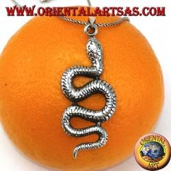 Silver pendant Big snake python