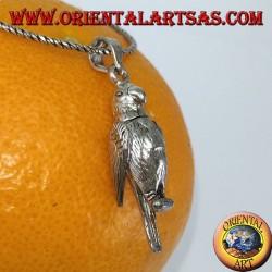 Colgante de plata Parrot mobile mueve alas y cuello