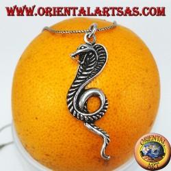 Ciondolo in argento, serpente Cobra reale (grande)