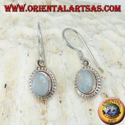 Orecchini in argento con Opale