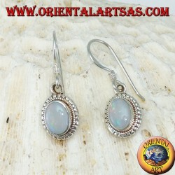 Silver earrings with Opal