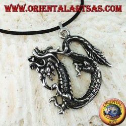 Silver pendant, Chinese dragon (large)