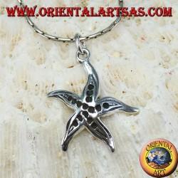 Silver pendant, starfish
