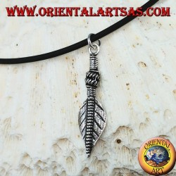 Silver feather pendant purification symbol