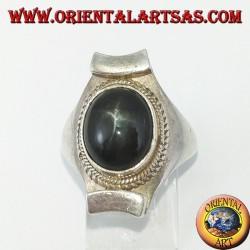 Anello d'argento tipico Nepalese con Black Star