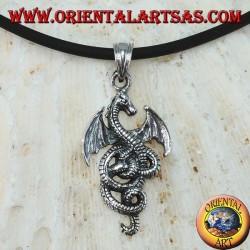 Серебряный кулон, кельтский дракон-василиск (маленький)