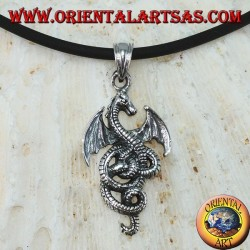 Silver pendant, Celtic dragon basilisk (small)
