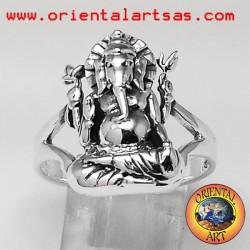Ganesh anello in argento
