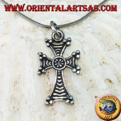 Silberner Anhänger armenisches Kreuz