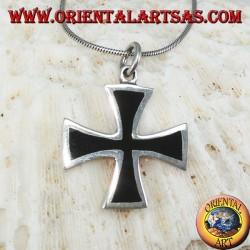 Ciondolo  in argento croce dei templari (croce di ferro )