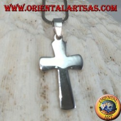 Silver pendant Simple cross (wide)