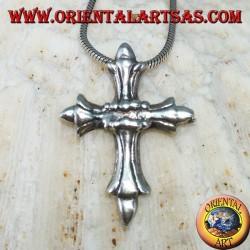 Silberner Anhänger mit byzantinischem Kreuz