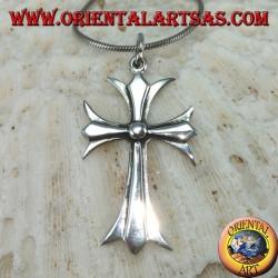 Ciondolo in argento Croce cattolica