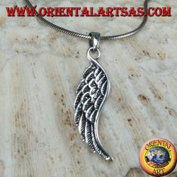 Ciondolo Ali d'angelo bifacciale in argento (media)