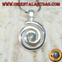 Silver pendant The hourly spiral