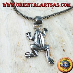 Silver pendant the little frog (the frog)