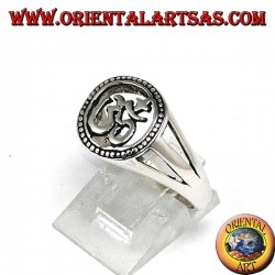 Silver ring, with Oṃ the holiest Hindu mantra