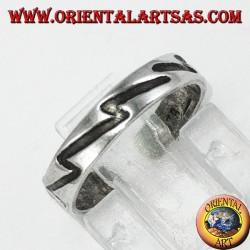Anello in argento da piedi o falange con incisione